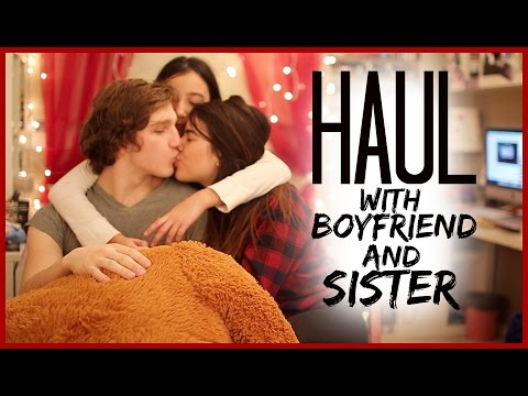 Haul With My Boyfriend And Sister video