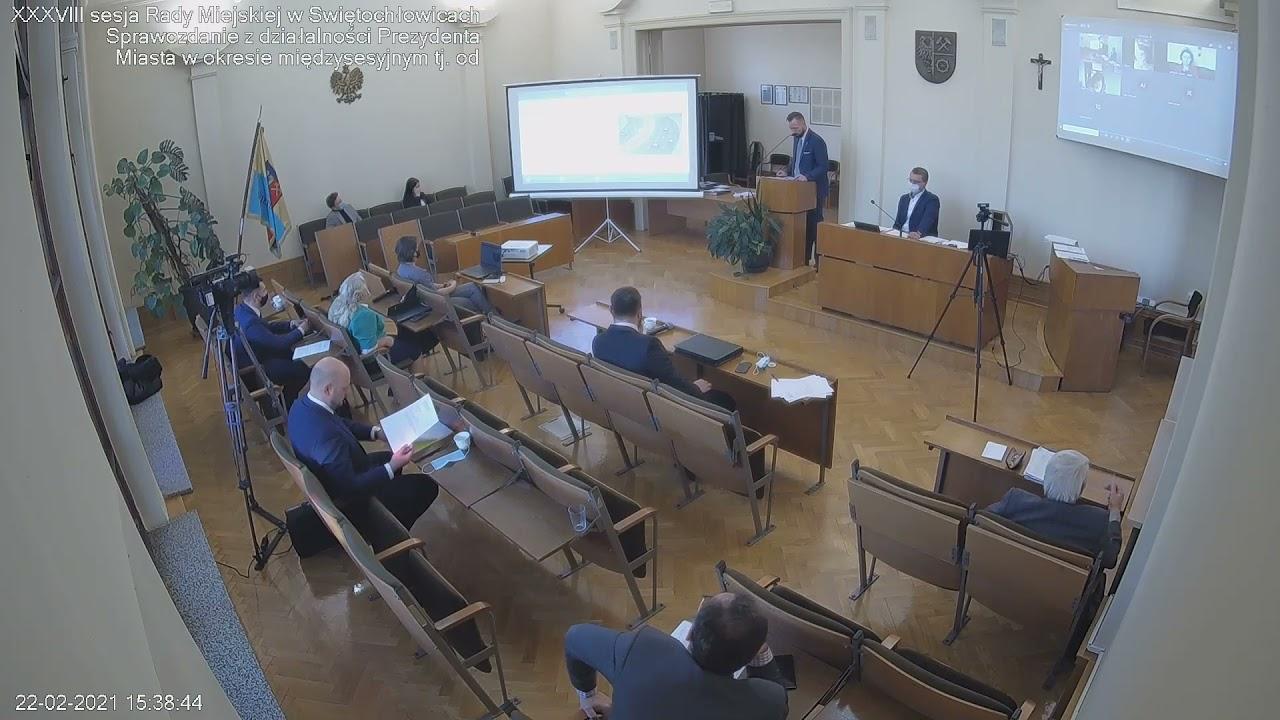 XXXVIII sesja Rady Miejskiej w Świętochłowicach - 22.02.2021