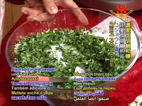 Delicious Iranian Rice with Herbs and Veggie Fish & Vegan Herb Omelet (In Persian)
