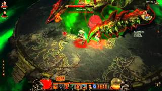 Diablo III Nightmare Belial Boss Fight (Barbarian & Monk)