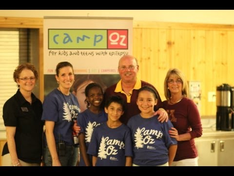 Coach Kill Visits Camp Oz For Kids With Epilepsy