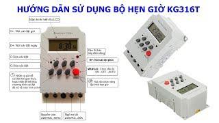 Hướng dẫn sử dụng bộ hẹn giờ giá 90K (KG316T) - Manual timer