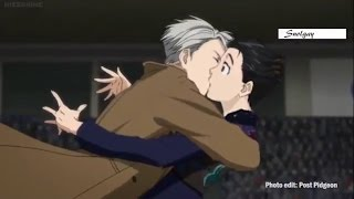 Yuri!!! On Ice - kiss scene ep 7 (uncensored)