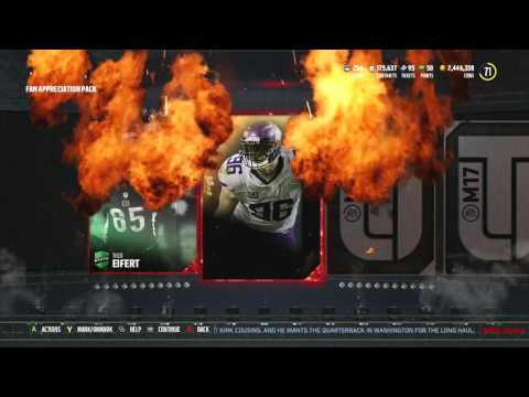 Madden 17 Ultimate Team :: The Most JUICED PACKS EVER?! Free GOLDEN TICKET!! Madden 17 Ultimate Team