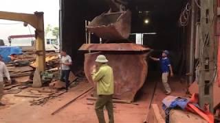 Khúc gỗ Cẩm Keva hàng khủng dài 4m , Kính 2,2m xẻ tại Cơ sở 1 phục vụ quý khách - Gỗ Việt Bắc