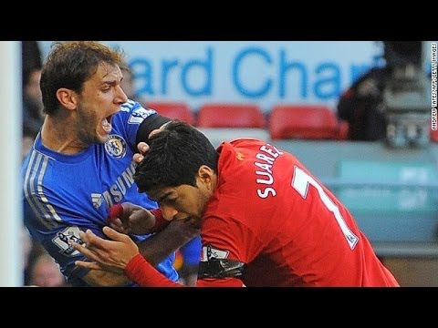 Luis Suarez All 3 Bites ~ Luis Suarez Bites Players Compilation