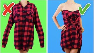 Download video 33 COOL AND SIMPLE CLOTHING LIFE HACKS AND CRAFTS