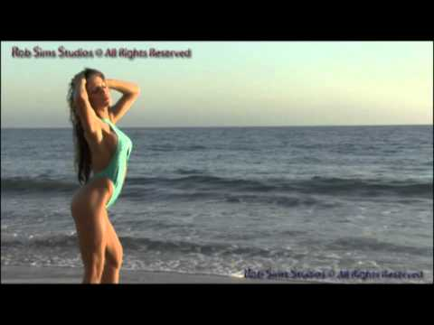 Fitness,swimsuit, Model,jasmine Rose Shooting Social Media Video W  Photog Rob Sims