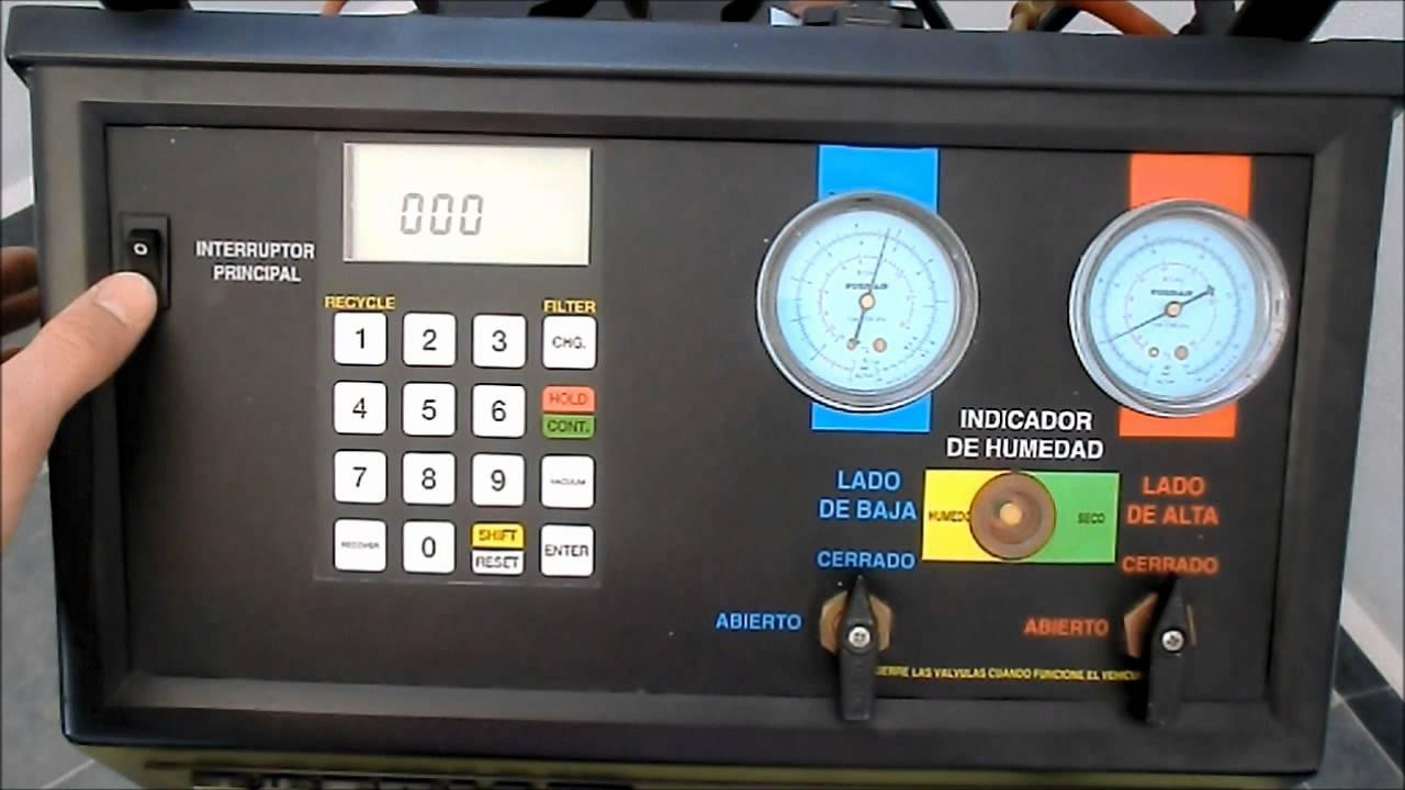 Estaci n de aire acondicionado r134a youtube for Maquinas de aire acondicionado baratas