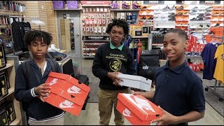 TOOK DEDE3X, MARK JR , TRAY & JAY SHOE SHOPPING!!!!