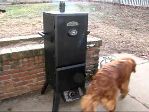 smoking spare ribs on a master forge propane smoker youtube. Black Bedroom Furniture Sets. Home Design Ideas