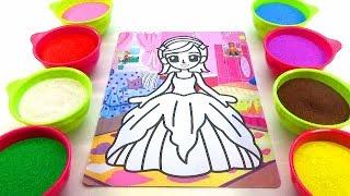 Ai thương con nhiều hơn!Nhạc thiếu Nhi!Đồ chơi trẻ em TÔ MÀU TRANH CÁT HÌNH Búp Bê Color Sand Paint