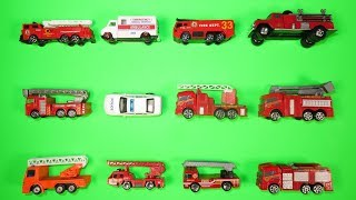 Best Fire Trucks, Fire Engines for Kids  #1 Hot Wheels, Matchbox, Tomica トミカ Toy Cars