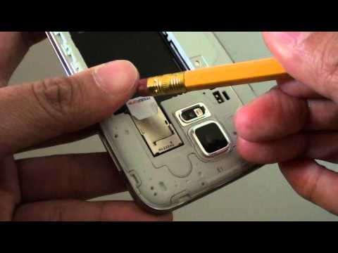 Samsung Galaxy S5: Easiest Way to Remove SIM Card With Pencil Eraser