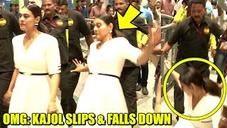 OMG: Kajol SLIPS and FALLS DOWN BADLY In a Shopping Mall | Embarrassing Moments | Bollywood Incident