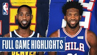 NUGGETS at 76ERS | FULL GAME HIGHLIGHTS | December 10, 2019