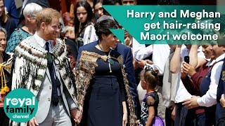 Harry and Meghan get hair-raising Maori welcome in New Zealand