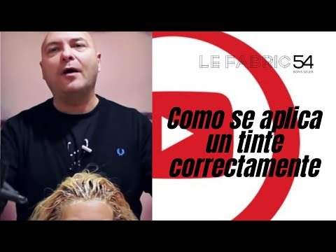 Como se aplica un tinte correctamente - Applying Permanent Hair Color