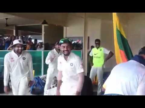 Percy entertains Kohli & Indian team, Kisses Ajinkya Rahane