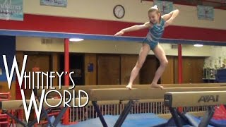 Whitney in the Gym | Front Tucks Off the Beam with Coach Ron