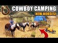 COWBOY CAMPING! LOADING THE HORSES & HEADING OUT WEST | FARMING SIMULATOR 2017
