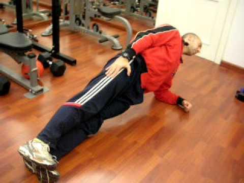 Addominali obliqui: side plank