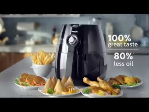 Cook Delicious Fried Food With 80% Less Fat using Philips Airfryer.