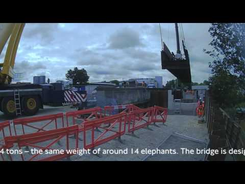 Power Road Bridge replacement Project milestone: service bridge installation on 17 July 2016