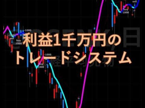 1千万円の利益が出るシステムトレード手法の中身は?。株式投資のお話。「投資手法]
