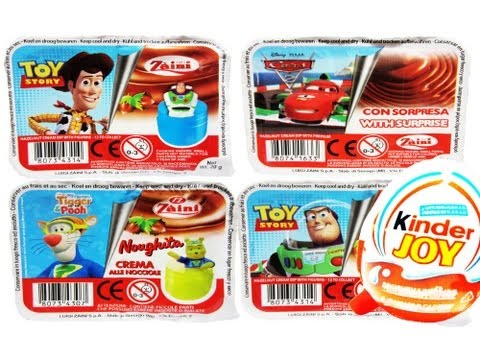 5 Kinder Surprise Joy Disney Pixar  Cars Toy Story 3 Winnie-the-Pooh Tigger