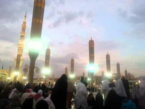 Medinede Akşam Ezanı Nisan 2014 umre