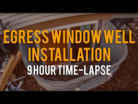 Egress window well installation time-lapse for Zander Solutions