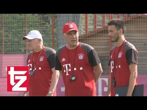 Carlo Ancelotti in München: So lief sein erstes Bayern-Training  (FC Bayern)