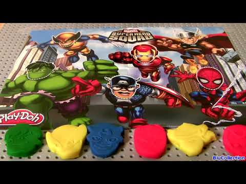 Play-Doh Superheroes Marvel Avengers Super Hero Squad Spiderman THOR HULK Wolverine IRON MAN