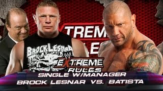 WWE Extreme Rules 2013 Rewind Brock Lesnar Vs Batista Full Match HD