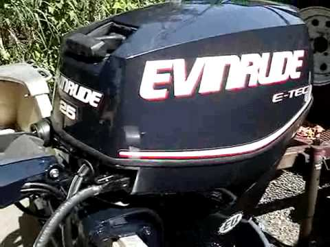 2010 Evinrude E-TEC 25 - First Start