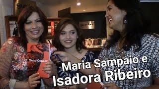 Maria Sampaio lança livro com apoio de Isadora Ribeiro, sua mãe.