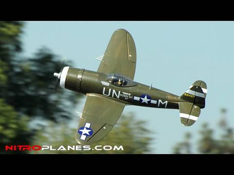 Airfield P-47 5CH Brushless 1400MM Warbird w/ Retracts Flight Review