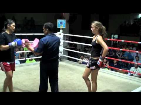 Chasity (Tiger Muay thai) KO's Sunaree @ Patong Boxing Stadium