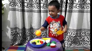 Know the fruits and how to cut fruits by Creative Baby Abyan