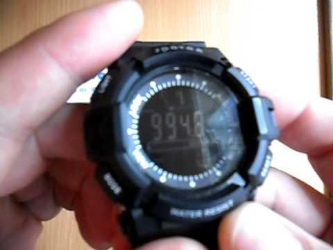 Часы Spovan с термометром, барометром и альтиметром