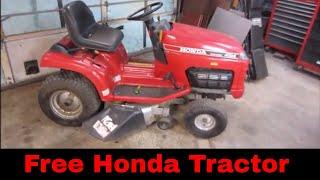 Will it Run? Free Broken Honda yard sale find.