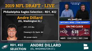 Eagles Trade With Ravens For Pick #22 And Select OT Andre Dillard From Wash St. In 2019 NFL Draft