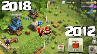 CLASH OF CLANS ☆ 2012 vs 2018!