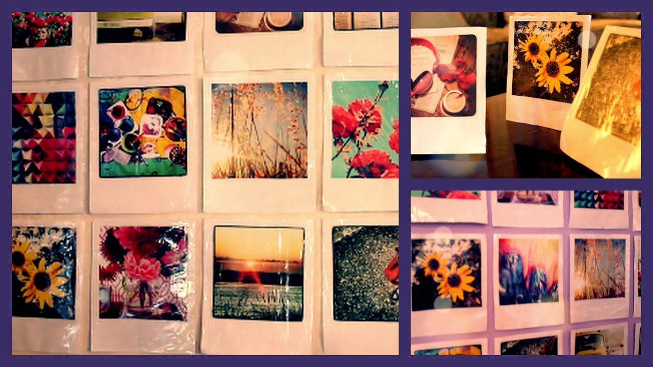 Diy instagram polaroid room wall decor youtube for How to make wall decoration