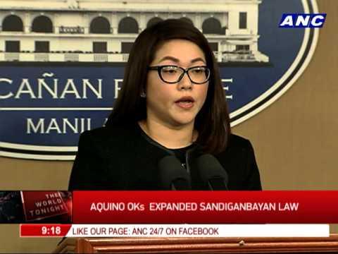 Aquino OKs expanded Sandiganbayan law