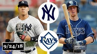 New York Yankees vs Tampa Bay Rays Highlights || September 24, 2018