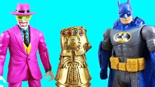 Batman Missions ! Batman Vs The Joker + Battle For infinity Gauntlet ! Superhero Toys !