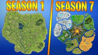 Evolution Of The Entire Fortnite Island! (Season 1-7)