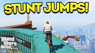 GTA 5 SUPER STUNT JUMPS! (GTA 5 Funny Moments)
